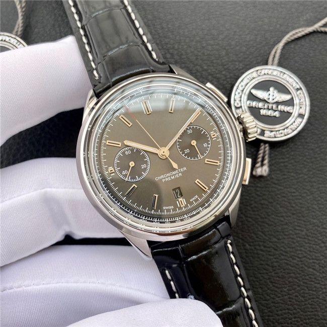 2020 высококачественные 42mmx13.65mm мужские часы 316L из нержавеющей стали 7750 сапфировая корона водонепроницаемые часы часов