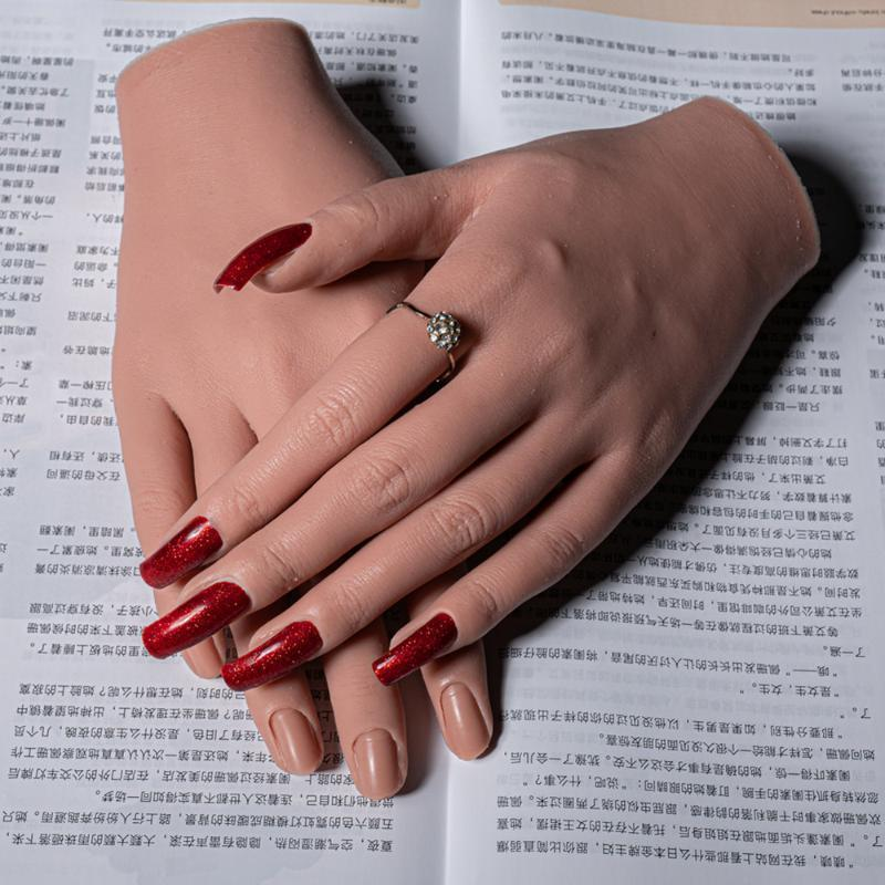 Fake Hand For Nail Practice Hand Model Adult Mannequin With Flexible Finger Adjustment Display Model Moveable Nails From Yangti 85 13 Dhgate Com