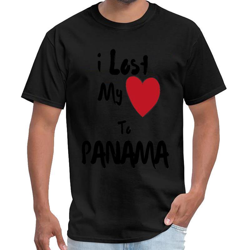 Panama Illustrated eski kıyafetlerine t gömlek artı doğal boyutları s-5XL tishert erkekler erkeklere my Heart kaybetti yazdır