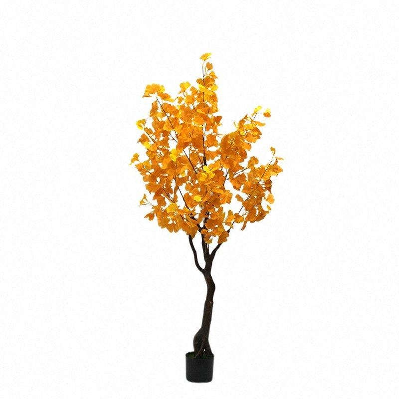 yapay bitkilerin 160cm ginkgo ağacı pot o2HD # ile Kapalı saksı bonsai sahte ağacı yapay bitkiler ev dekorasyon sahte bonsai