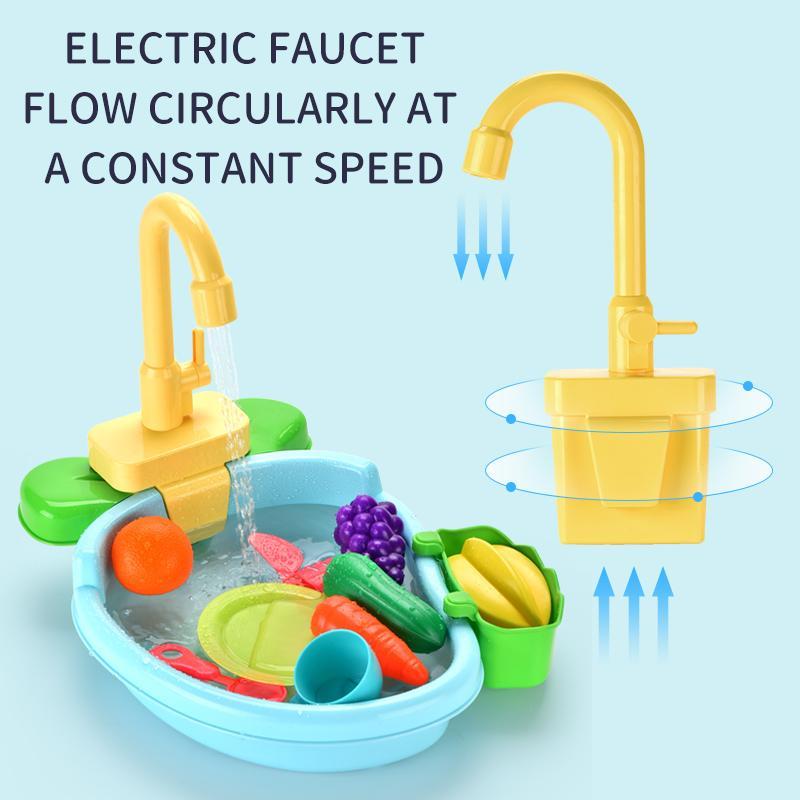 cocina imitación conjunto de disipador de juego caliente venta de niños con el grifo lavavajillas pretendiendo jugar con juguetes de niños y niñas interactivos