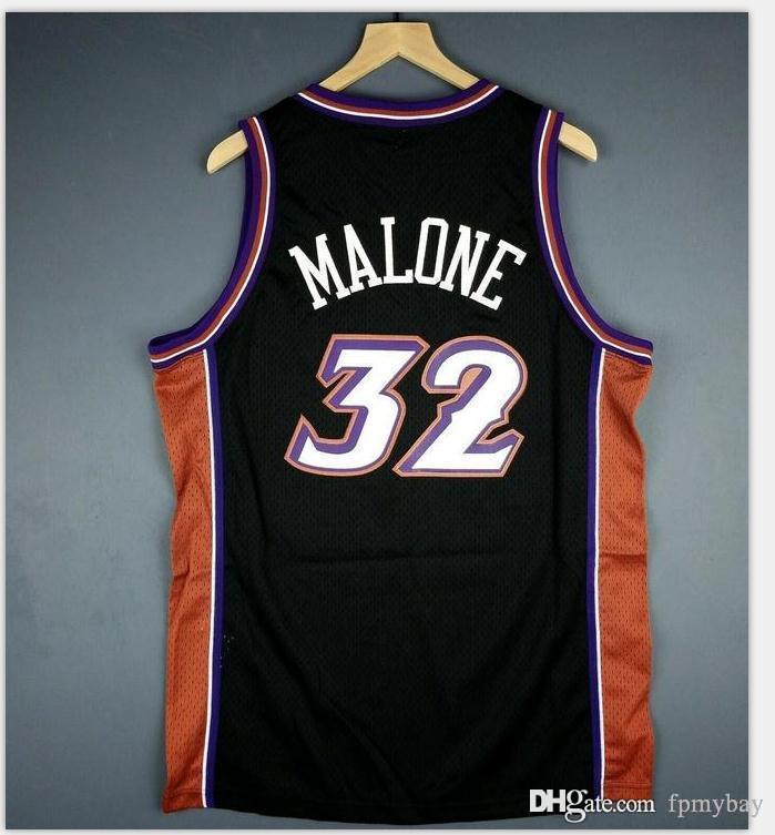Özel Erkekler Gençlik kadınlar Vintage Karl Malone Vintage College Basketball Jersey Boyut S-4XL veya özel herhangi bir ad veya numara forması