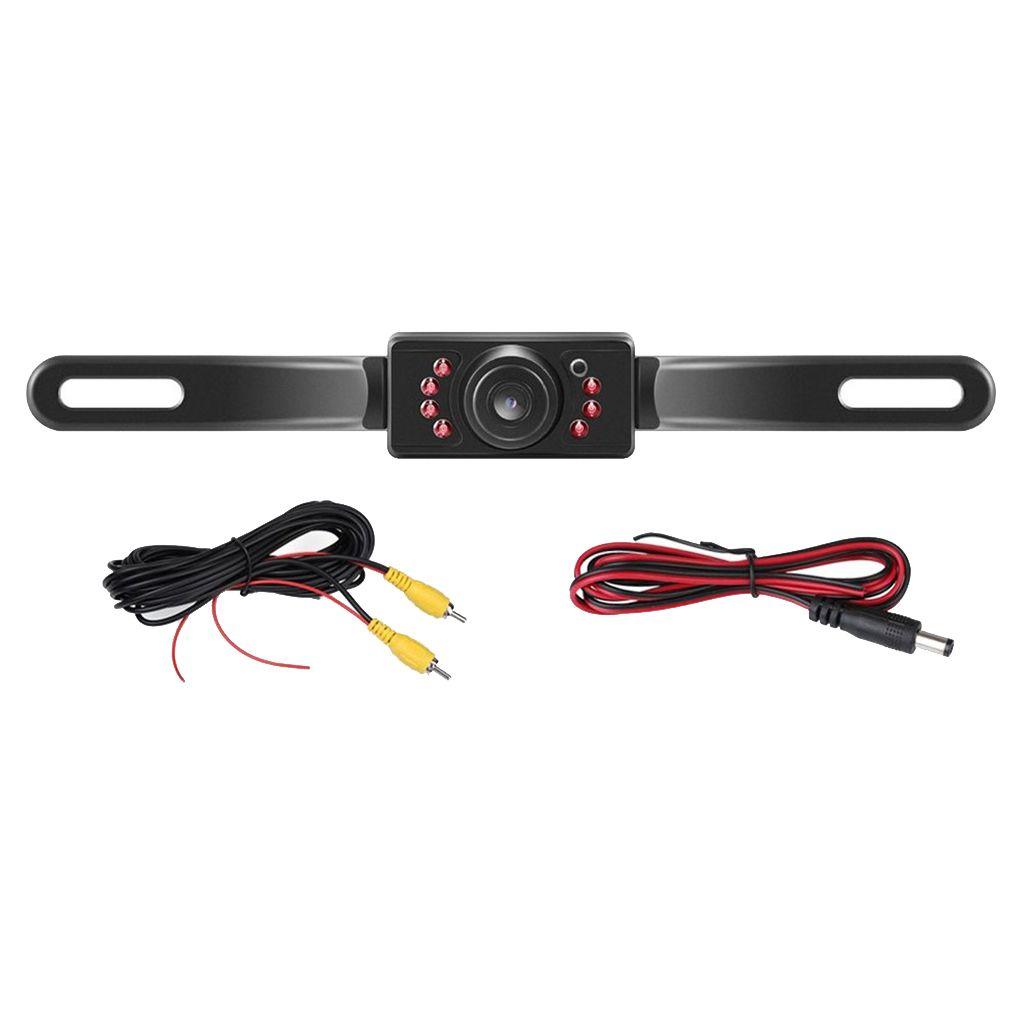 Backup-Kamera für Auto-Pickup Trucks SUVs RVs, Kfz-Kennzeichen Rückfahrkamera Nachtsicht IP67 Wasserdicht Wide View