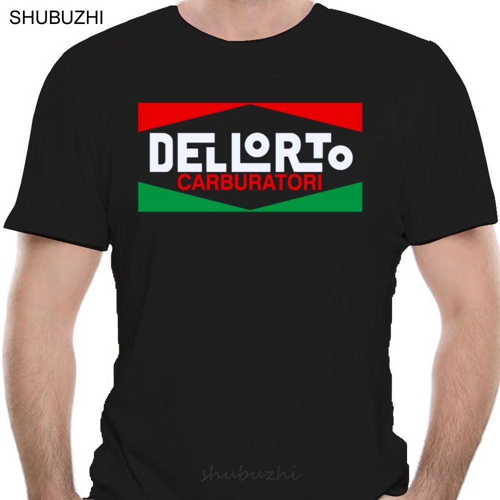 Dellorto carburatore del motociclo T-shirt con logo Tutti i colori cotone Tshirt uomini di modo di estate T-shirt Euro Size