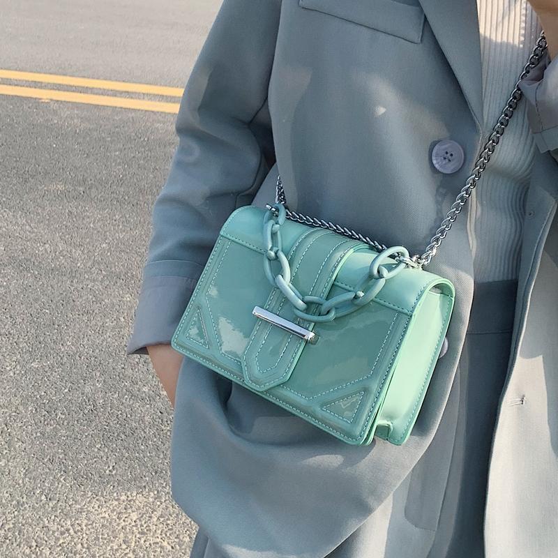 Designer Crossbody Solide Farbe Messenger Frauen Kette Qualität Leder Sommer Sommer quadratische Handtasche Anständige Schulter Ingenial2020 Tasche Oxifa