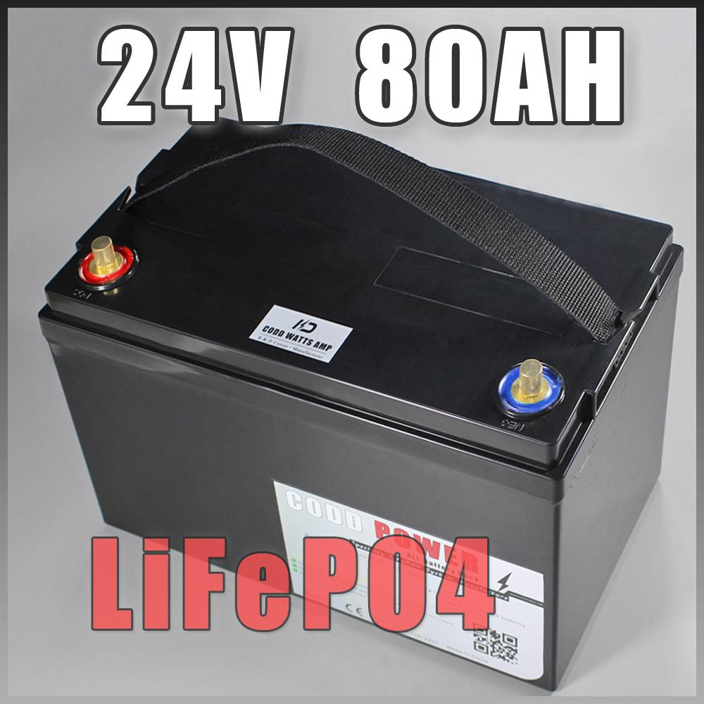batteria da 24V 80Ah LiFePO4 IP68 di sicurezza, 1500W elettrico della batteria della bicicletta + 10A alluminio caricatore motorino pacchetto bici elettrica