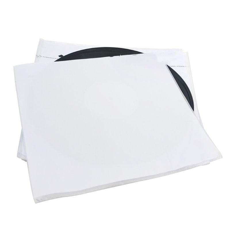 20 stücke Antistatische Reispapieraufzeichnung Innenbeutelhülsen Protektoren für 12 Zoll Vinylsatz Plattenspieler Zubehör D08A