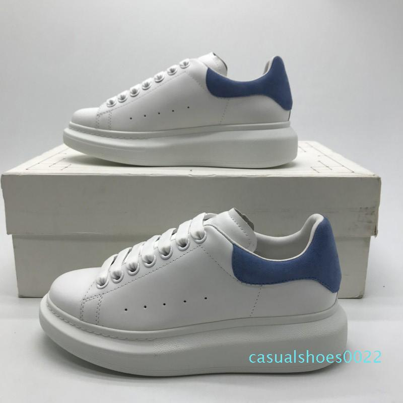 Tasarımcı Ayakkabı Büyük Boy Sneakers Lüks Erkek Eğitmenler Beyaz Dana derisi Platformu Düz Casual Parti Düğün Süet Spor Gümüş Parıltı c22
