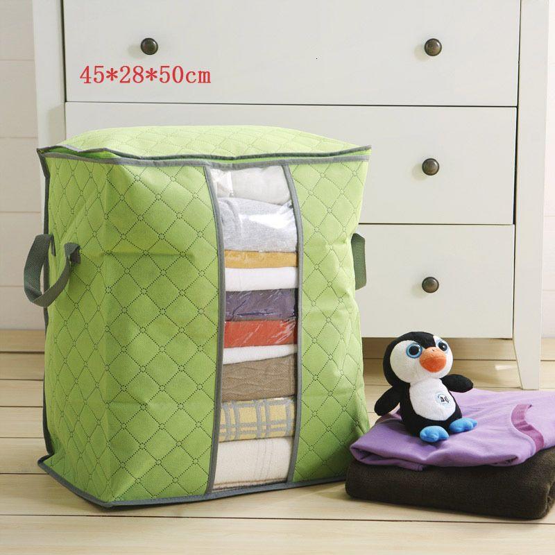 2019 Travel Bag Tragbare Duffle Bag Organizer Non Woven Underbed Beutel Verpackung Würfel Box Bambus Kleidung Gepäck Bag