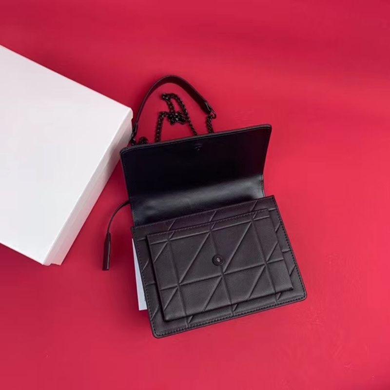 Mode Fabrik- -groß- Frauen arbeiten Saddle Schultertasche Top Layer Kalbsleder Metallkette Satteltasche für Frauen klassische Designer-Taschen