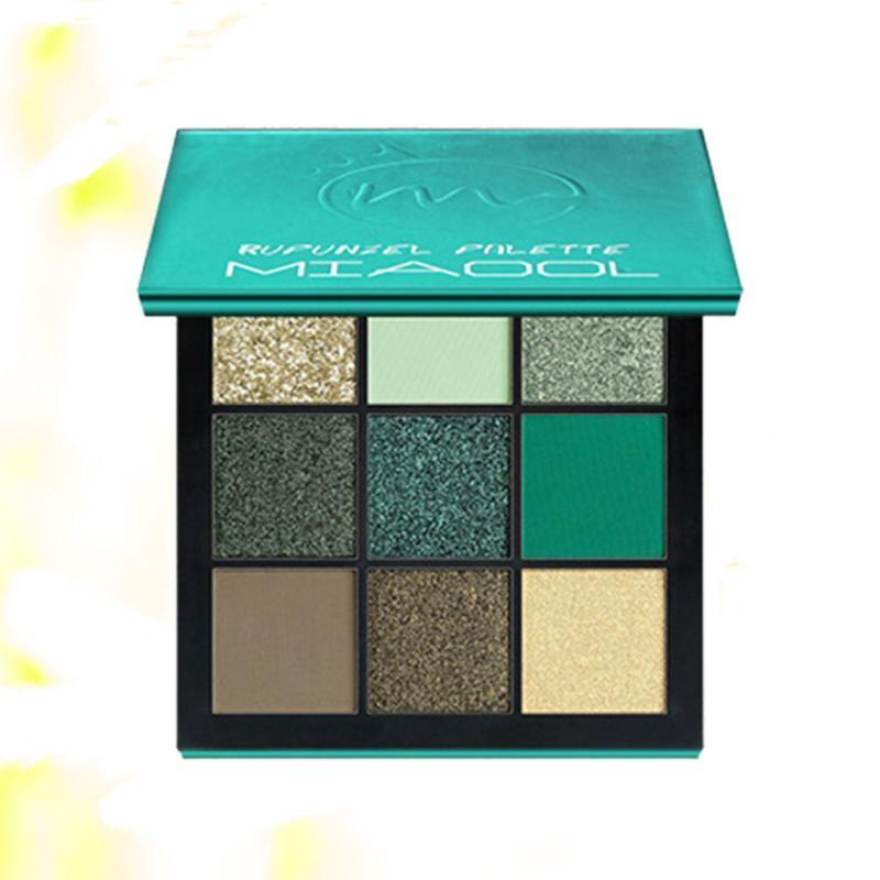 1Pc MIAOOL Perlglanz Matte Lidschatten-Palette Schönheit Make-up-Palette Shimmer pigmentierten Lidschatten Maquillage (Grün)
