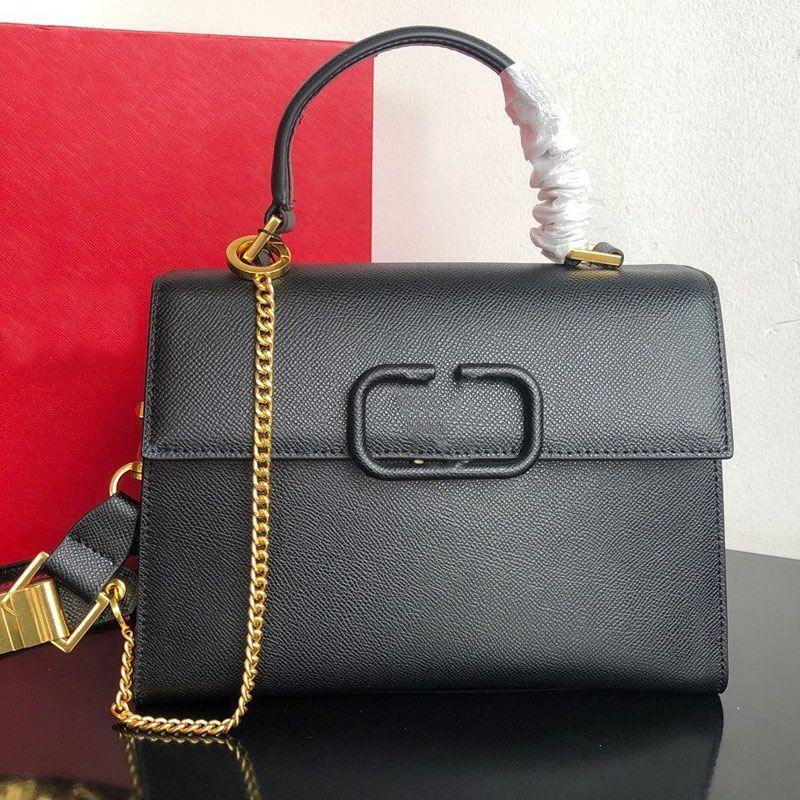 핸드백 지갑 체인 어깨 가방 패션 지갑 정품 가죽 뜨거운 판매 무광택 편지 조정 가능한 어깨 스트랩 일반 배송