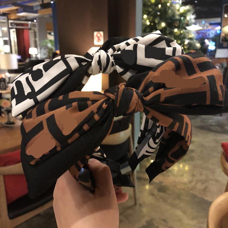 Neue 2 Stil Bowknot Haarband Stoff Mitte Knoten Kopfschmuck Damen Mode Kopfschmuck