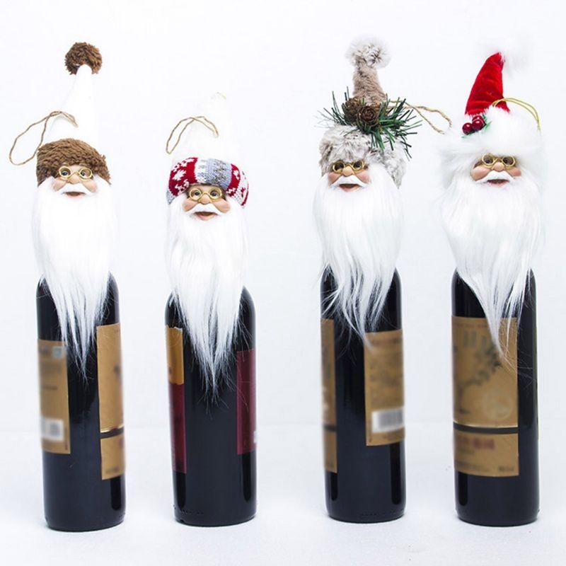 Santa Claus Shape Wine Set Christmas Tree Toppers Home Decor Ornaments Christmas Tree Decor Cute Kids Gifts.,