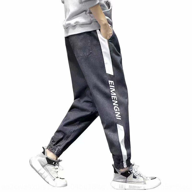9La6Z costura e os homens de plus size solta calças apertadas calças de brim Plump estudante lazer primavera marca de moda Harlan leggings