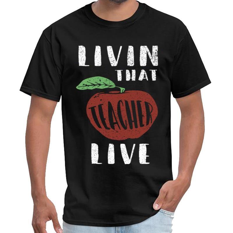 Kişiselleştirilmiş Öğretmen Yaşam tişört-erkek vaporwave t gömlek XXXL 4XL 5XL hiphop tepelerini Homme