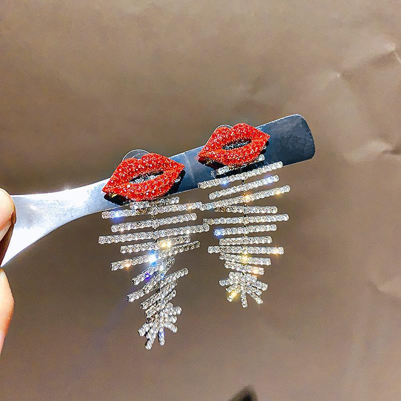 Горячие продажи Личность женщины серьги серебро позолоченный Rhinestone рыбы кости серьги для девочек Prom венчания партии славный подарок ювелирных изделий