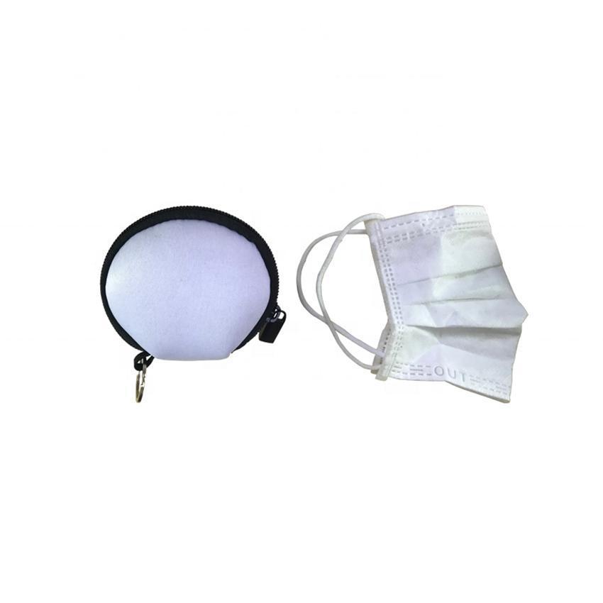 Maschera Igiene bagagli Pouch auricolare bagagli sacchetto di trasporto Rettangolo Zipper Earpphone neoprene Auricolare caso della copertura DHB1178