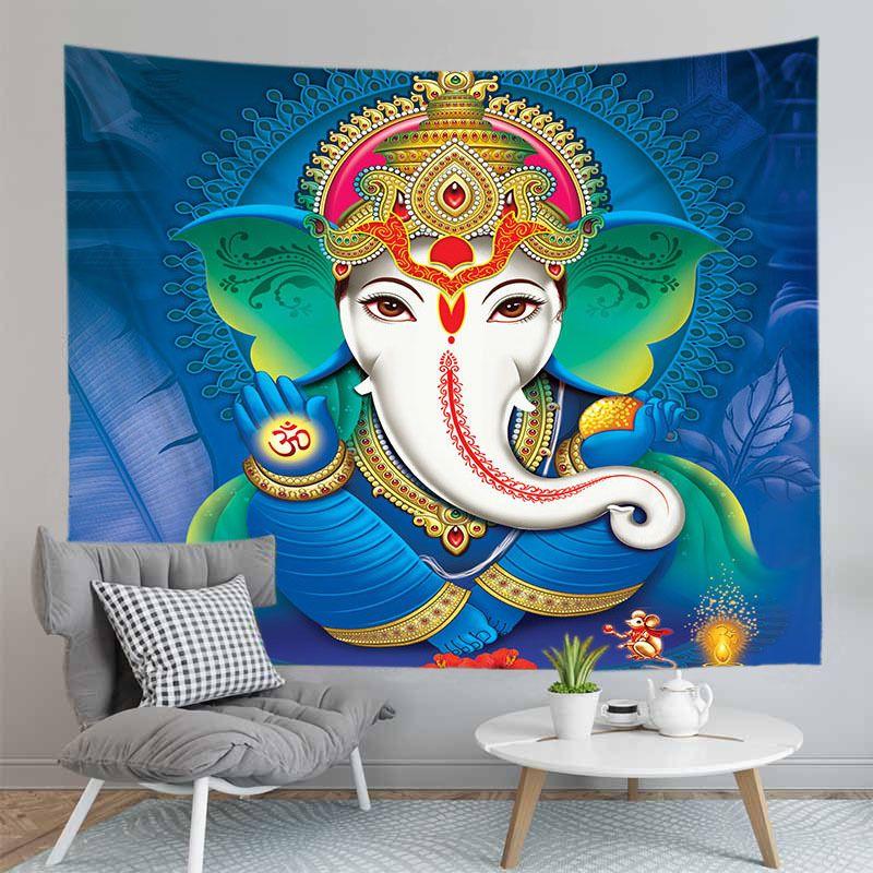 Indien Elephant Lord Ganesha Tapisserie Wandbehang Teppich der neuen Ankunfts-Mandala Buddha-Dekorationen für Haus Schlafzimmer