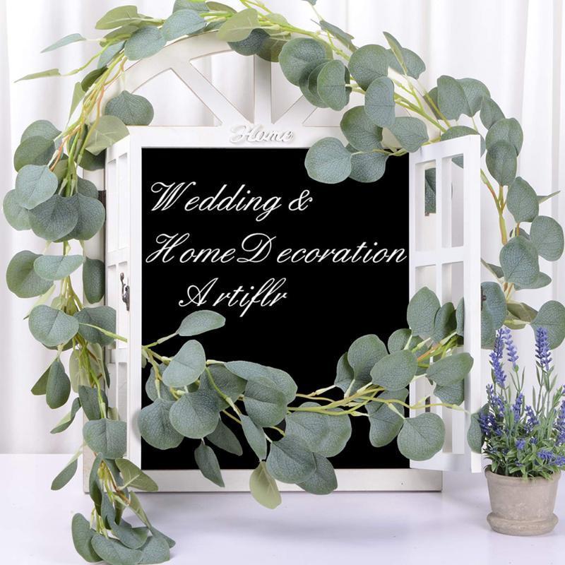 Düğün Dekorasyon Yapay Bitkiler Yeşil Okaliptüs Vines Rattan suni Sahte Bitkiler Sarmaşık Çelenk Duvar Dekoru Dikey Bahçe