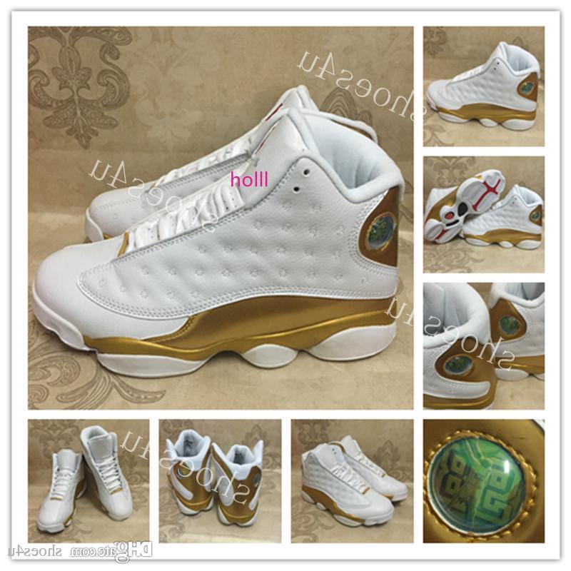 boxBasketball avec 13 Chaussures Blanc Or 1998 13 14 DMP Paquet Hommes Sport Chaussures Entraînement sportif Chaussures de sport d'athlétisme Chaussures de sport avec la boîte US 8-13