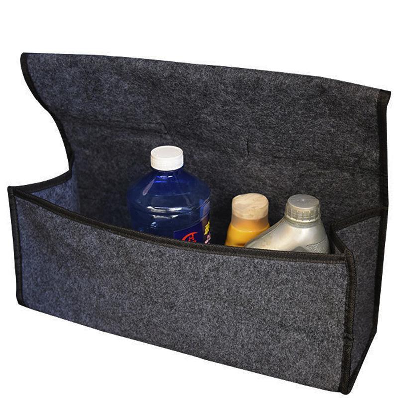 Carro caixa suave de feltro caixa dobrável bolsa para ferramenta multi-use armazenamento ferramentas de emergência organizador de carpete tronco de veículo bkfxe