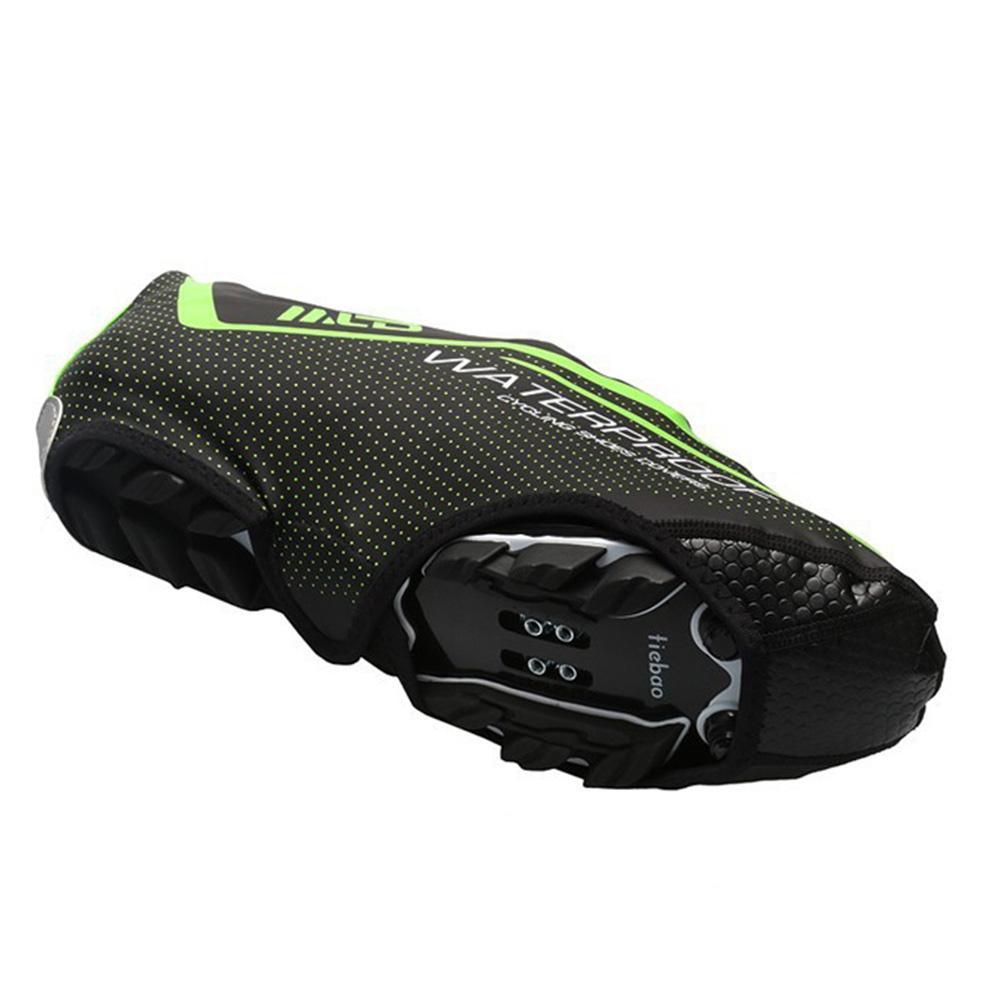 Couvre-chaussures Antiderapant extérieur Cyclisme vélo coupe-vent imperméable durable en cuir PU
