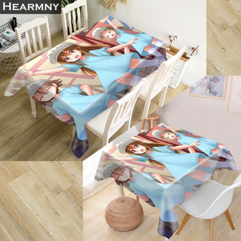 Les cellules HEARMNY au travail! Tissu Oxford 3D Nappe carrée / rectangulaire anti-poussière Table couverture pour Home Party Décor Covers TV