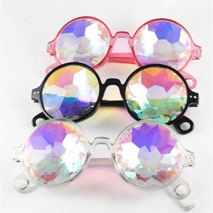 Калейдоскоп Солнцезащитные очки Детские ретро Геометрическая Радуга объектив Sunglass Мода праздничная вечеринка очки прохладно мальчик любимый Eyewear CFYZ123Q kz1I #