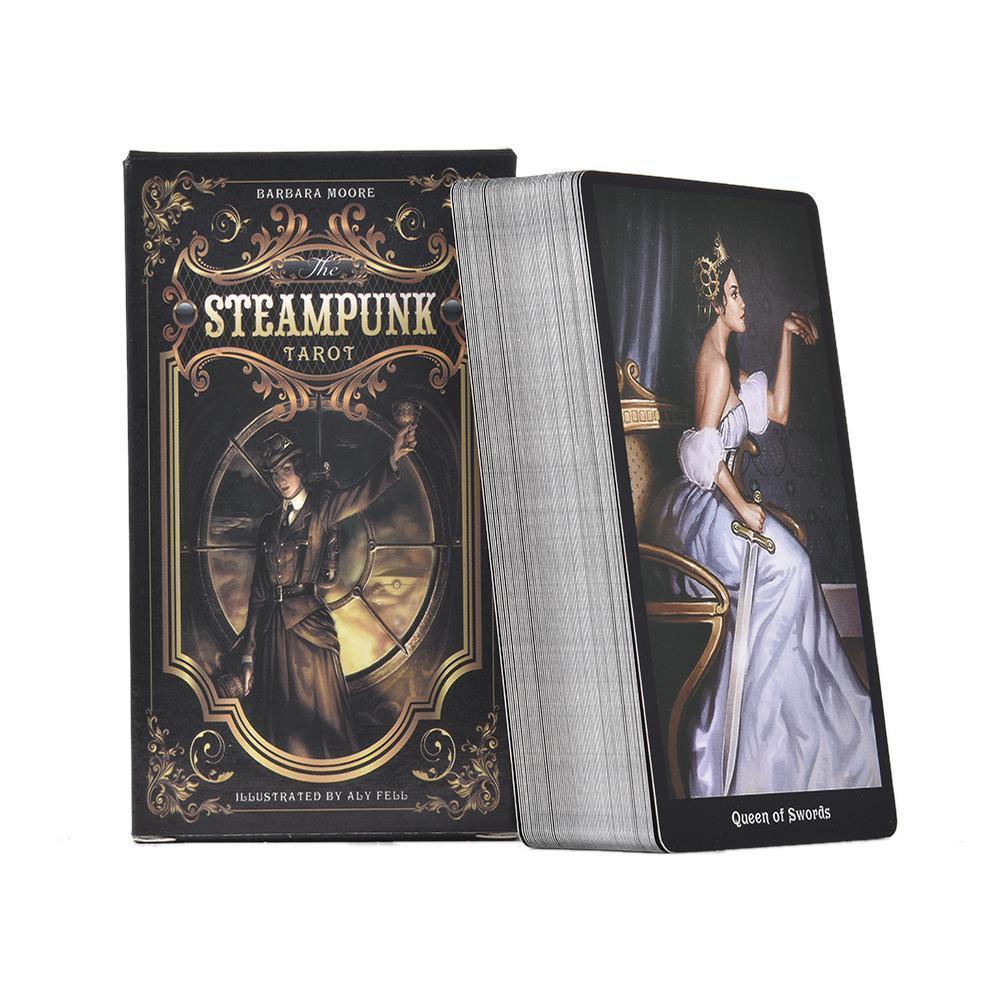 Eğlence Kart Buluşması Aile Oyunu Parti İngilizce Kartlar 78pcs Güverte Kurulu için Steampunk Tablo paketi Tam Oyun Tarot qylPdn qqds