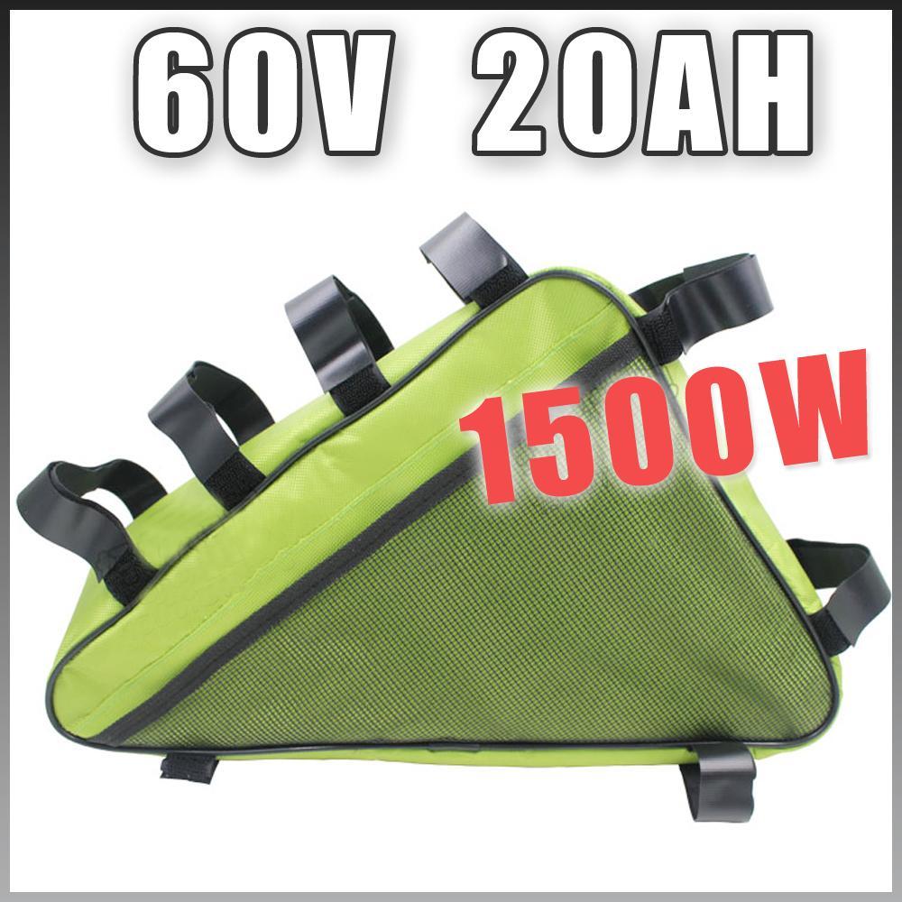 batteria al litio 60V 20AH Triangolo bicicletta elettrica pacchetto 1500W E bicicletta Batteria