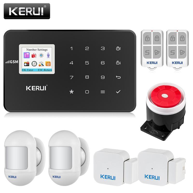 Системы сигнализации Kerui G18 GSM Система Безопасность Безопасность Беспроводной Домашний Грабитель Пожарная защита Датчик движения DIY Комплект