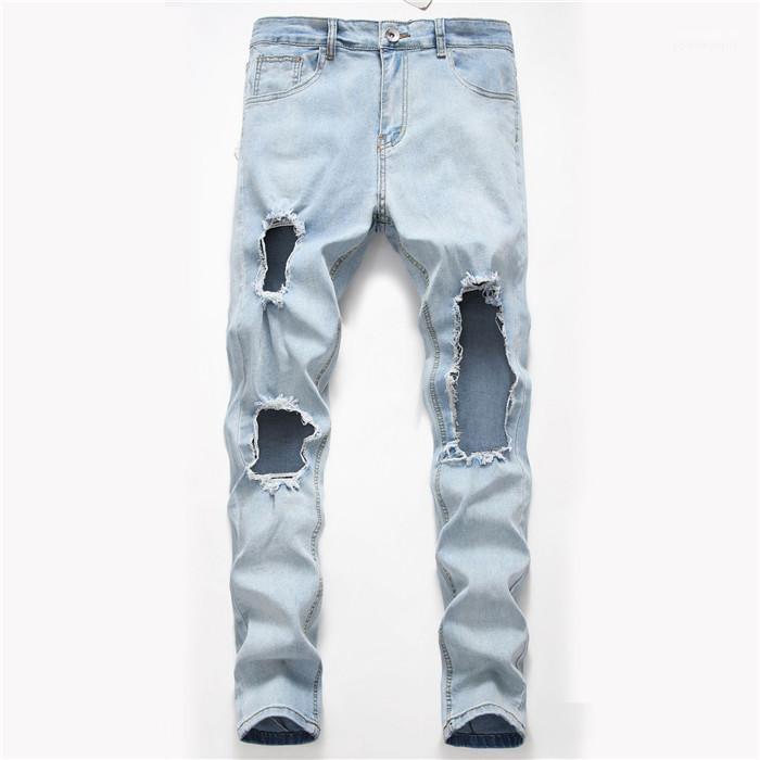 Farbe Fashion Style Homme Kleidung Hip Hop Street Lässige Kleidung Mens-Sommer-Desinger Loch-Jeans Fest