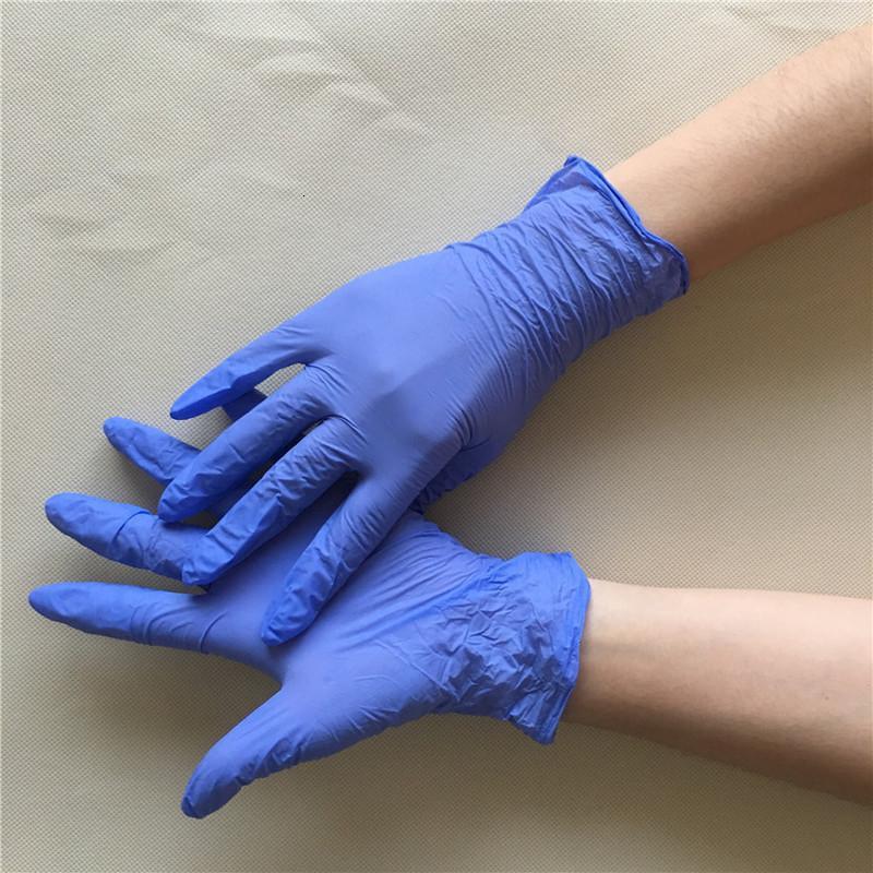 Hot Nitrilo 3 desechables de látex guantes de látex tipos de especificaciones Opcional antideslizante Anti-ácido Guantes B Grado de caucho limpiador DHL libres