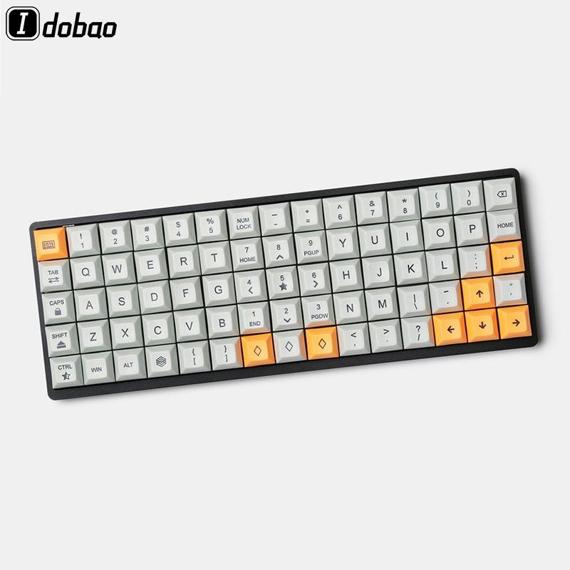 Due Sub 106 KEY DSA Keycaps Grayish Yellow Thick PBT For Mechanical Keyboard Customize Xd75re Xd75am Xd75 ID75