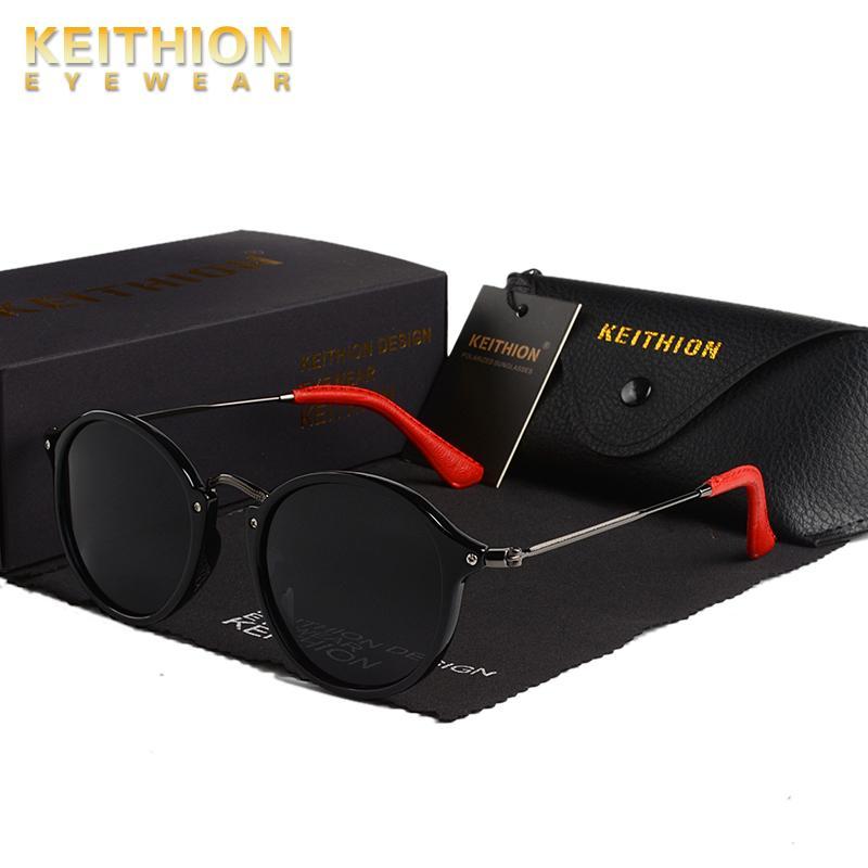 Runde Marke Sonnenbrille Polarisierte Vintage Klassische Keithion Retro Brille Sun Herren Eyewear Frauen, die UV400 UgfrW fahren