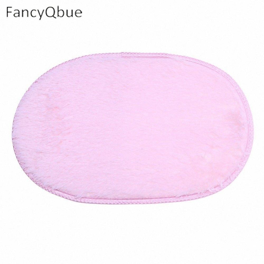 1PC super pratico Slip-resistente Pad soft Sala Ovale del pavimento di moquette Tapis Salon Mats 40 * 60cm / 30 * 50cm 1oqD #