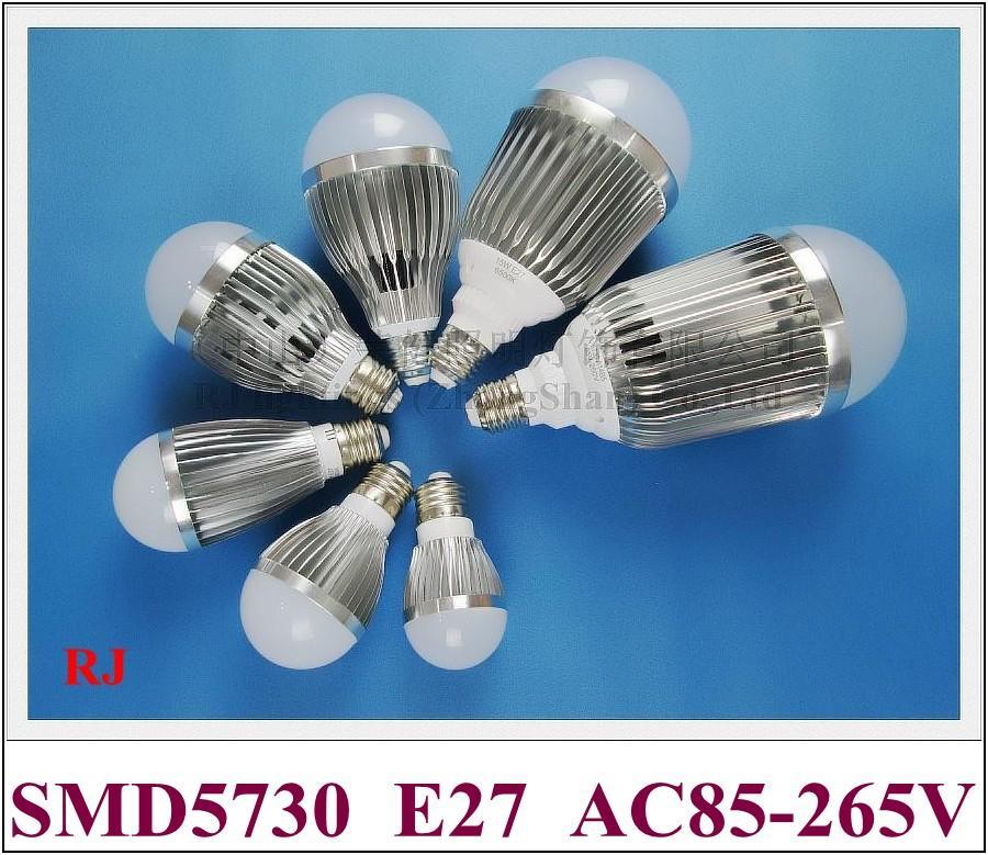 SMD 5730 LED-lamp E27 LED BUBBLE BALL BLIB GLOBE LIGHT 3W 5W 7W 9W 12W 15W 18W AC85-265V E27 Aluminium Hoge Bright Long Life CE
