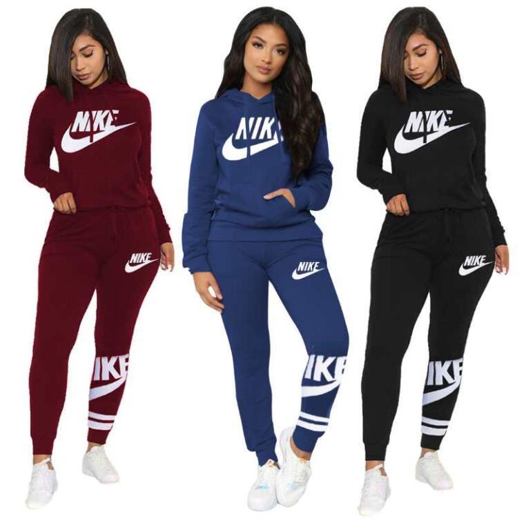Pantalones casuales Marca Conjunto de las mujeres Mujer 2 piezas Relajado Trajes de la camiseta + pantalones lápiz Suit Tie Dye Carta Dos piezas Conjunto chándal Sweatsuit