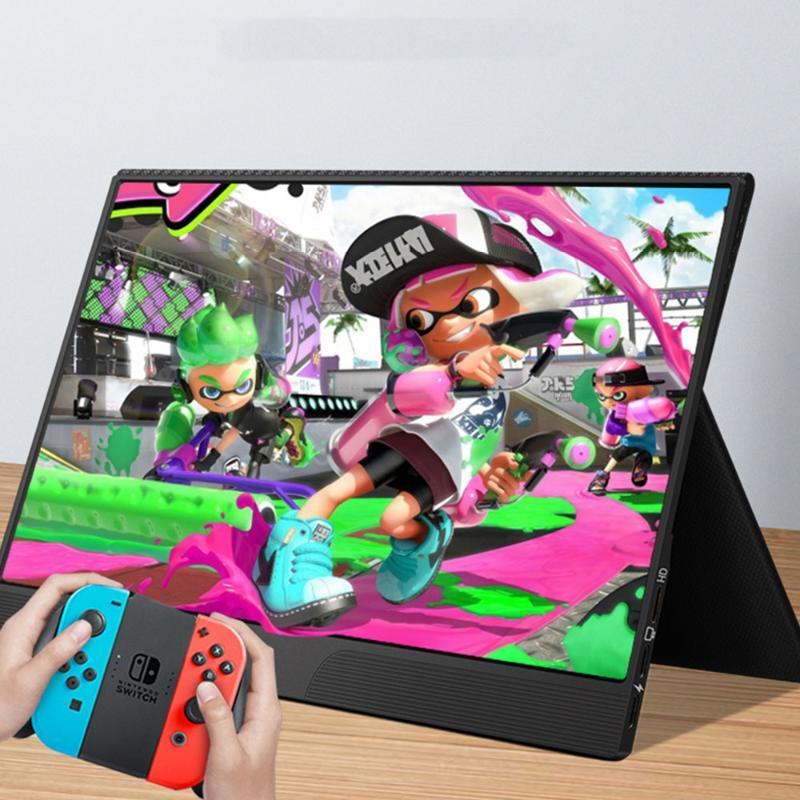 """15.6"""" QLED HDR Gaming Monitor For Switch PS4 XBOX Light Weight Eye Protection Type C PD Screen For Phone EMUI PC DEX TNT Laptop"""