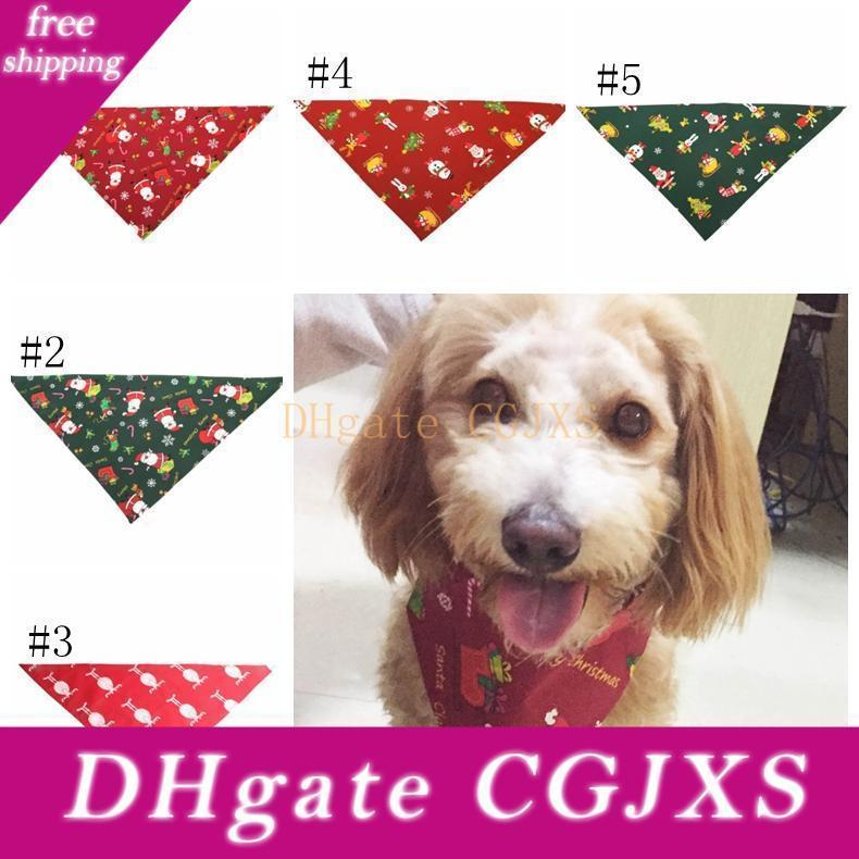 Dog Collar Bandana Dog Bandana Christmas Dog Collar Scarf Bib Grooming Accessories Triangular Collars Fashion Design Christmas Gift for 19