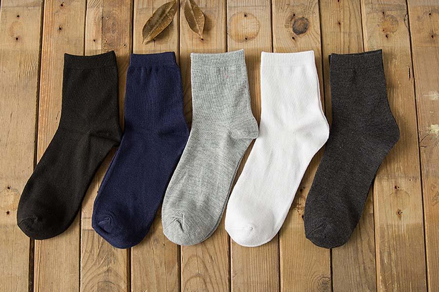 بالجملة، القطن وصول جديدة الصلبة اللون كلاسيك للرجال الأعمال في سوك العلامة التجارية اللباس عادية الرجال الجوارب ل