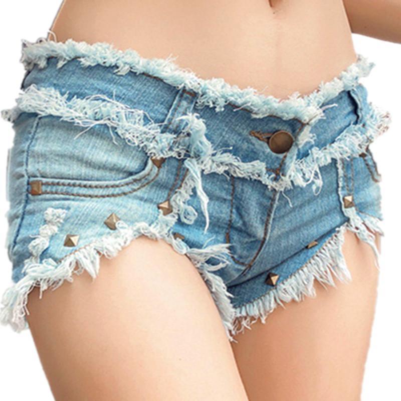 2020 Womens Denim Shorts Mulheres Short Jeans Sexy cintura alta Mulher shorts curtos Verão Femme Algodão Big Size