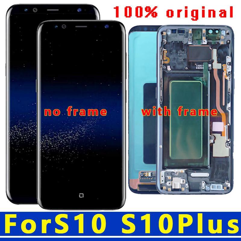Original 6.1 '' AMOLED para la galaxia S10 G973F / DS G973U G973-G973 SM pantalla LCD de pantalla táctil digitalizador reemplazo + Service Pack
