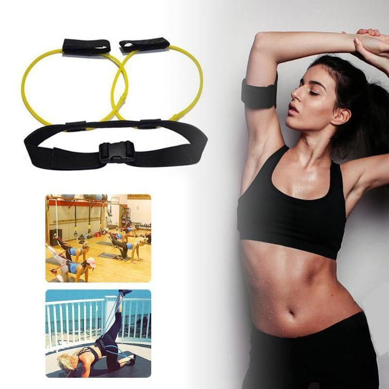 Latex naturel élastique jambe de formation Corde réglable corde Fitness Band Programme d'entraînement Fitness Equipment Yoga L2G9