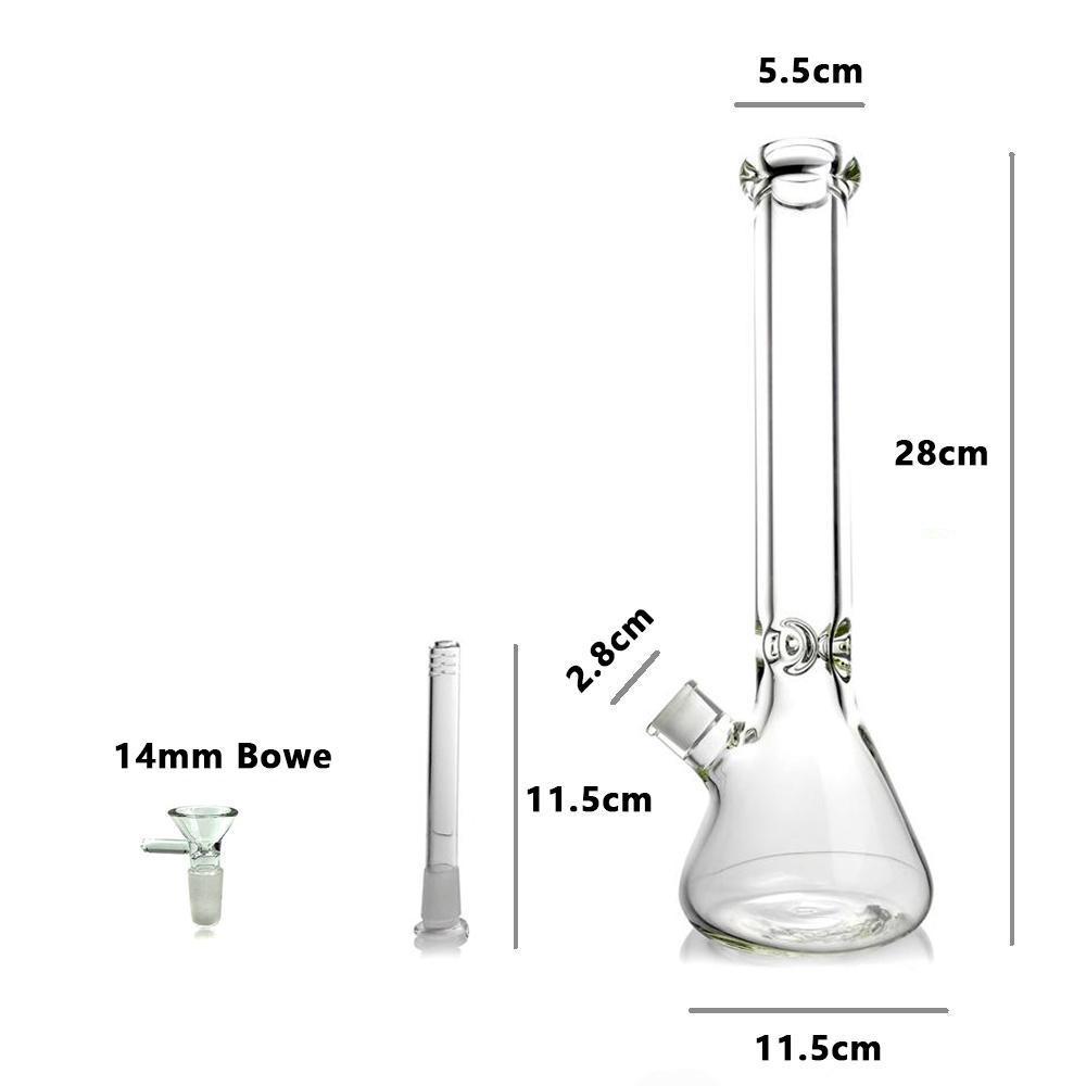 US Stock Glass Bong Ash Catcher Recycler Men Women water pipes Precooler heady black 14mm bongs Adapter Hookah