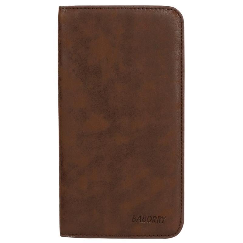 PU Moda Cüzdan Telefon 2020 Vintage Kart Erkekler Erkekler Tutucu Debriyaj Çanta Cüzdan Çantalar Için Yüksek Ince Uzun Lüks Kalite Erkek Çanta XJods