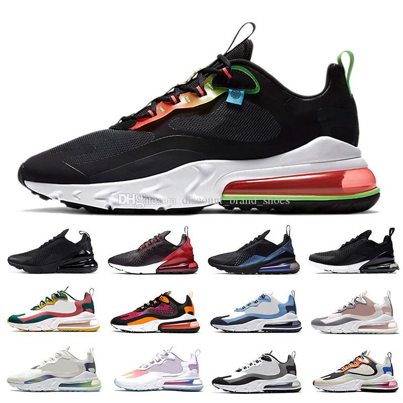 Nike air max 270 react airmax shoes Travis Scott BAUHAUS React hombres zapatos para correr Gris Electro Green OPTICAL para hombre entrenador deportivo zapatillas de deporte