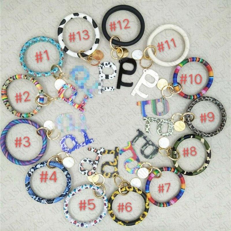 Les femmes en cuir PU Tassel Bracelet porte-clés Bracelet public sans contact Bouton ascenseur de protection outil Porte-clés Porte-anneau E73 CdSk #