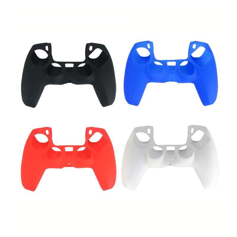 4 цвета Мягкий защитный чехол силиконовый чехол кожи для Playstation 5 ПС5 контроллер Gamepad протектор DHL FEDEX EMS БЕСПЛАТНАЯ ДОСТАВКА